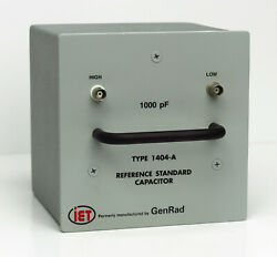 General Radio GenRad IET LABS 1404-A 1000 pF Reference Standard Capacitor 1404A $1,995.00