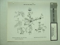 Original REO Model M 66 Four Cycle Engine for 421 AR Parts List 1961 $8.99