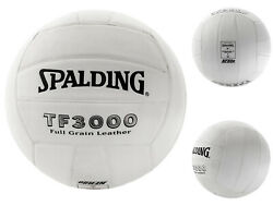 Spalding TF3000 Full Grain Leather Volleyball White $22.99