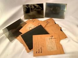 PHOTOGRAPHY LOT - 12 ANTIQUE EARLY 1900'S GLASS PLATE NEGATIVE PHOTOS 5X7