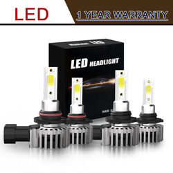 9005+9006 6000K 26400LM Combo CSP COB LED Headlight Kit Hi-Low Beam Bulbs LXM