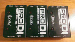 Lot of 3 Radial Pro DI passive direct injection box - Used