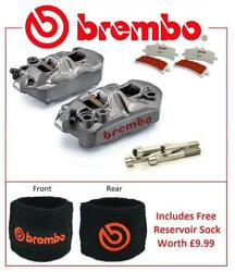 Brembo M4 Front Brake Calipers To Fit Kawasaki ZX6R 2005 - 2016 SC Pad Upgrade