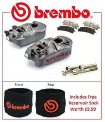 Brembo M4 Front Brake Calipers To Fit Kawasaki ZX6R 2005 - 2016 RC Pad Upgrade