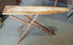 ANTIQUE VINTAGE WOODEN IRONING BOARD ♡ 47