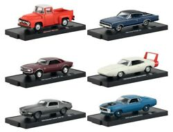 M2 Machines 1:64 Auto-Drivers Series 62 Set of 6 Diecast 11228-62 Chevrolet Ford