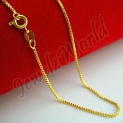 14K Solid Yellow Gold Box Necklace Real Gold Chain 16quot; 18quot; 20quot; 22quot; 24quot; 26quot; 30quot; $119.99