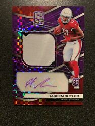 Hakeem Butler 2019 Spectra Rookie 2 Color Patch Auto Purple 3335