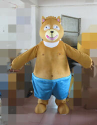 Christmas Fur Teddy Bear Mascot Costume Cosplay Party Outfits Clothing Adults