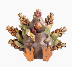 HARVEST TURKEY FIGURINE THANKSGIVING & FALL TABLETOP DECOR Resin 5