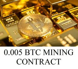0.005 BTC SHA256 Mining Contract To Your Wallet CryptocurrencyBitcoin Antminer