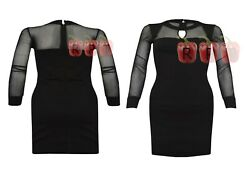 Womens Long Sleeve Black Dresses Keyhole Mini Dress