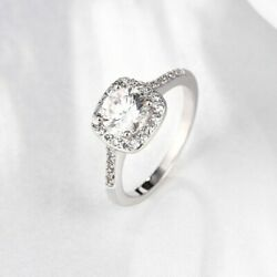 White Sapphire Birthstone 925 Silver Filled Wedding Bridal Ring Gifts Size 4-13