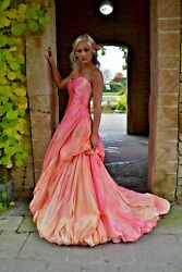 NEW Anna Maier Ulla Maija Bohemian Wedding Dress Blush Rose Peach Pink 2 4 6 8