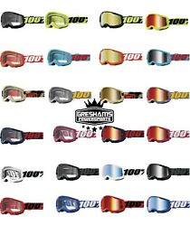 100% STRATA Goggles -ALL COLORS- Offroad MX MTB Motocross CLEAR OR MIRROR LENS $12.50