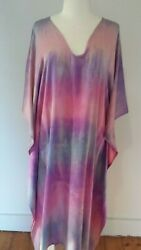 NEW Silk Long Beach Summer Kaftan Caftan Dress Cover up blue Purple pink camilla