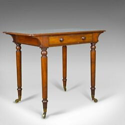 Antique Side Table by Holland and Sons English Victorian Mahogany Circa 1860
