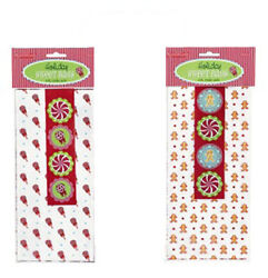 Grasslands Road Holiday Sweet Cello Treat Favor Bags Set of 8 With Stickers