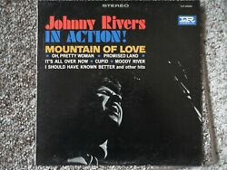 JOHNNY RIVERS  IN ACTION !  VINYL LP  VG+ to EX  1965 IMPERIAL