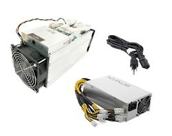 Bitmain Antminer S9i Bitcoin Miner 14 THs with power supply and power cord.