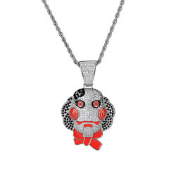 Classic Clown Hip Hop Pendant Necklace for Men and Women AAA+ CZ Cosplay Jewelry