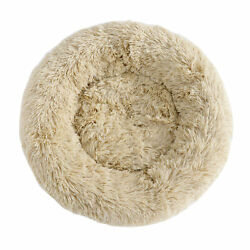 Faux Fur Dog Beds Round Pillow Cuddler for Medium Small Dogs Machine Washable $13.99