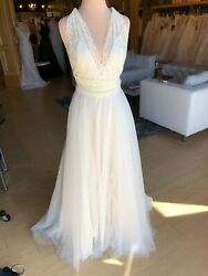 Willowby by Watters Wedding Dress- Tilda Almond Size 10 NWOT