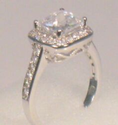 3.00 Ct Cushion cut Diamond Solitaire Engagement Cocktail ring White Gold ov