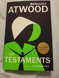 MARGARET ATWOOD SIGNED 1ST EDITIONPRINT THE TESTAMENTS BOOK