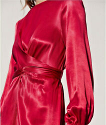 NWT Zara ASOS Mango Wrapped Red Dress Size 4 S Small Sexy Fashion Sold out $31.98