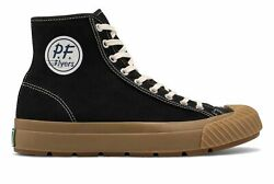 PF Flyers Grounder Hi Unisex Shoes Black with Tan Size