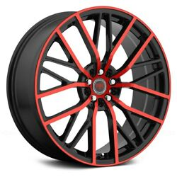 Revolution Racing RR07 Wheels 17x7.5 (40 5x114.3 73.1) Black Rims Set of 4