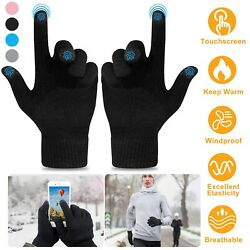 Smartphone Men Women Touch Screen Gloves Winter Warm Cycling Skiing Knit Gloves $5.75