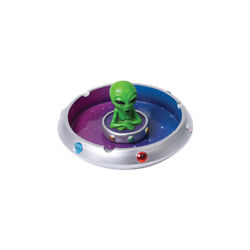 Alien in Flying Saucer Polyresin Ashtray 6quot; $12.99