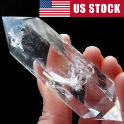 100% Natural Rock Clear Quartz Crystal Point Double Terminated Wand Healing $6.89
