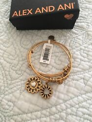 Alex and Ani You Are My Heart Expandable Bracelet Bangle Set of 2 New in Box