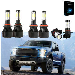 6000K Combo LED Headlight Bulbs Fog Light H11 9005 9145 for Ford F-150 2015-2019