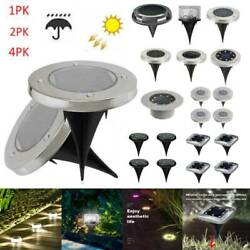 Solar Buried Floor LED Under Ground Lamp Outdoor Pathway Garden Landscape Light $7.68