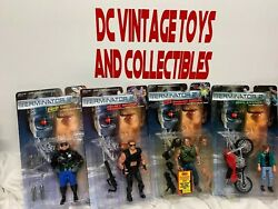 Vintage 1991 Kenner Lot of 4 Terminator 2 T2 Judgment Day Action Figure Lot NEW