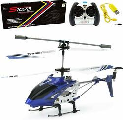 Remote Control Helicopter 3 Channel Mini RC Crash Proof Alloy Frame LED Lights $33.97