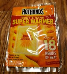 HOT HANDS Body & Hand SUPER Warmer 18 Hours of Heat Larger NEW in Package (2)