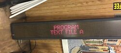 Programmable Sign Adaptive Micro Systems Alpha 7200C Scrolling Digital Marquee $300.00