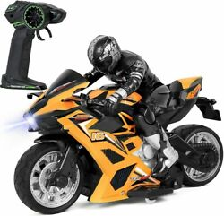 Click N#x27; Play High Speed RC Remote Control Stunt Motorcycle with Riding Figure $31.99