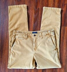 Mens American Eagle Extreme Flex Relaxed Straight Khaki Beige Pants Size 32x34