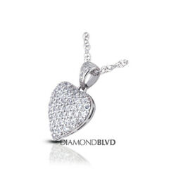 6ct tw E VS1 Round Cut Natural Earth Mined Certified Diamonds 14K Gold Pendant