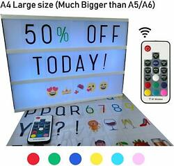 Large A4 Cinematic Light Box With Remote Control And 211 Letters Colored Emojis