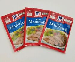 McCormick Meat Marinade Seasoning Mix 3 Packets BBD 319 DISCONTINUED 1.12 oz