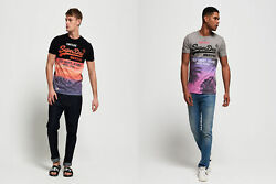 Superdry Mens Shirt Shop Panel All Over Print T-Shirt $13.87