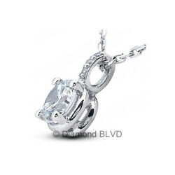2.60ct tw HSI2 Round Cut Natural Certified Diamonds 18K Gold Classic Pendant