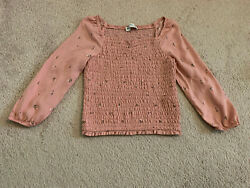 Abercrombie Kids Girls long sleeve Floral tops Size 7 8 PINK $9.99